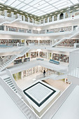 City library, interior view, architect Eun Young Yi, Stuttgart, Baden-Württemberg, Germany