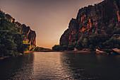 River in Windjana Gorge National Park in the Kimberley region in Western Australia, Australia, Oceania