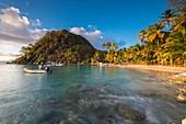 France, Guadeloupe (French West Indies), Les Saintes archipelago, Terre de Haut, Anse du Pain de Sucre, little volcanic hill