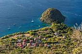 France, Guadeloupe (French West Indies), Les Saintes archipelago, Terre de Haut, Pain de Sucre, volcanic hill