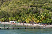 France, Guadeloupe (French West Indies), Basse Terre, Bouillante, Malendure beach