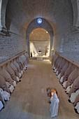 France, Var, Massif des Maures, Collobrieres, chartreuse de la Verne, nuns of Bethlehem service, ask for permission before publication