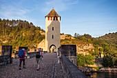 France, Lot, Bas-Quercy, Cahors, XIVth century Valentre bridge