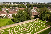 France, Eure et Loir, Chartres, Notre Dame Cathedral of Chartres listed as Wolrd Heritage by UNESCO, Labyrinth Garden