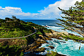 View of rocks and the Pacific coast near Carmel-By-The-Sea, California, USA