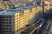 France, Bouches du Rhone, Marseille, Euromediterranee area, La Joliette district, Euromediterranee Boulevard, Les Docks, the A55 motorway and the tunnel entrance of Joliette
