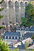 France, Finistere, Morlaix, the 19th century Viaduct