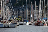 France, Finistere, Morlaix, the marina in the city