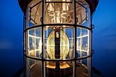 Frankreich, Finistere, Plougonvelin, Pointe de Saint Mathieu, Laterne des Leuchtturms von Saint Mathieu, Historisches Denkmal