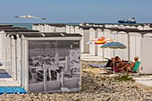 France, Seine Maritime, Le Havre, the beach huts