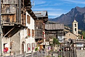 France, Hautes Alpes, Parc Naturel Regional du Queyras (Natural regional park of Queyras), saint Veran, certified the Most beautiful Villages of France, higher municipality habited in Europe (2042m)