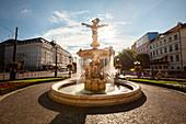 View of Ganymede's Fountain, Bratislava, Slovakia