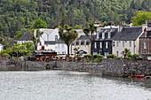 The Plockton Hotel's beer garden is located on Loch Carron, Highlands