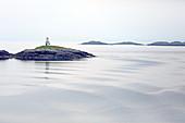Morgenstimmung in der Hafeneinfahrt von Tarbert, Isle of Harris, Äußere Hebriden