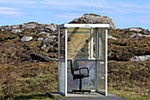 Tourist information and bus stop, Isle of Harris, Outer Hebrides