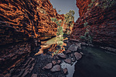Waterhole in Karijini National Park in Western Australia, Australia, Oceania;