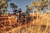 Chilling in Karijini National Park in Western Australia, Australia, Oceania;