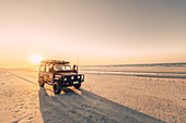 Off-road vehicle on 80 Mile Beach in Western Australia, Australia, Indian Ocean, Oceania;
