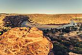 Evening mood in Kalbarri National Park in Western Australia, Australia, Oceania;
