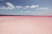 Pink Lake in Western Australia, Australia, Oceans;