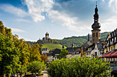 View of Cochem with Reichsburg, Cochem an der Mosel, Mosel, Rhineland-Palatinate, Germany