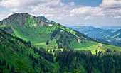 Mountains of the Nagelfluhkette in summer, Allgäu Oberstaufen