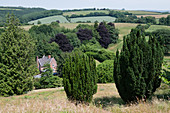 Castle Hill country house and garden in the township of Filleigh in North Devon in England, UK