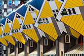 THE CUBIC HOUSES KUBUSWONINGEN, STAYOKAY YOUTH HOSTEL, BLAAK TRAIN STATION, ROTTERDAM CITY CENTER, THE NETHERLANDS