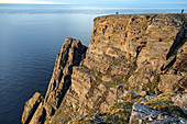 306-METRE HIGH CLIFFS AT NORTH CAPE, TOWN OF NORDKAPP, FINNMARK, ARCTIC OCEAN, NORWAY