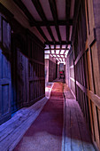 THE HALLWAYS OF THE LEAKY CAULDRON, STUDIO TOUR LONDON, THE MAKING OF HARRY POTTER, WARNER BROS, LEAVESDEN, UNITED KINGDOM