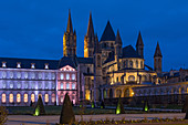 MAYOR'S OFFICE AND ABBEY CHURCH, ABBAYE AUX HOMMES (MEN'S ABBEY) FOUNDED IN THE 11TH CENTURY BY WILLIAM THE CONQUEROR AND REBUILT IN THE 18TH CENTURY, CAEN (14), FRANCE
