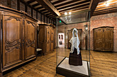 THE HALL OF CABINETS FROM THE 18TH CENTURY, THE 15TH CENTURY CHATEAU DE MARTAINVILLE, MARTAINVILLE-EPREVILLE (76), FRANCE