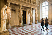 CARYATID ROOM, HALL OF CLASSICAL GREEK AND HELLENISTIC ART, SULLY WING, THE LOUVRE, PARIS, FRANCE