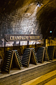 TOUR OF THE MERCIER WINE CELLARS BY TRAIN, EPERNAY, MARNE, GRAND EST REGION, FRANCE