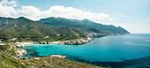 Anse d'Aliso Bay at Cap Corse, Corsica, France.
