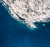 Cliffs of La Revellata peninsula, Calvi, Corsica, France.