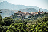 The mountain village of Montemagiorre near Calvi, Corsica, France
