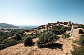 The mountain village of Pigna near Calvi, Corsica, France