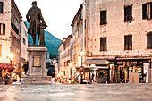 "Statue of Pascal Paoli on Place Paoli, Corte ""the secret capital of Corsica"", Corsica, France."