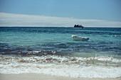 Boat on the beach in Southwest Australia, Oceania