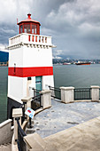 Vancouver, Brockton Point Lighthouse with a view to North Vancouver, Canada