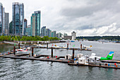 Seaplanes at the dock, Vancouver, Canada