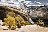 View of Half Dome and Yosemite Valley, Yosemite Falls Trail, Yosemite National Park, California, USA
