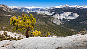 On the Half Dome Trail, view of the Sierra Nevada, Yosemite National Park, California, USA