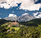 Mountain village in Corsica, France