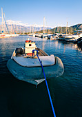 The port of Calvi, Corsica, France
