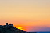 Punta San Francesco at Calvi in the evening light, Corsica, France