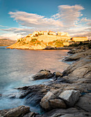 Citadel of Calvi in the evening light, Corsica, France