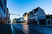 Die leere Davidstraße im Rotlichtviertel in den frühen Morgenstunden, St. Pauli, Hamburg, Deutschland