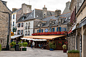 Center of the medieval old town of Ville Close, Concarneau, Arrondissement Quimper, Departement Finistere, Brittany, France, Europe